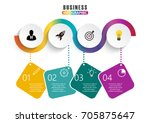 infographic design vector and... | Shutterstock .eps vector #705875647