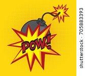 cartoon comics bomb vector... | Shutterstock .eps vector #705883393
