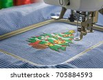 picture of embroidery machine... | Shutterstock . vector #705884593