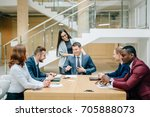 boss leader coaching and... | Shutterstock . vector #705888073