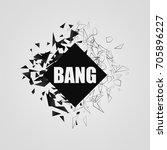 abstract black explosion.... | Shutterstock .eps vector #705896227