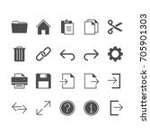 application toolbar flat icons.