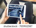 person choosing car insurance... | Shutterstock . vector #705902587