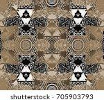 ethnic design. striped... | Shutterstock . vector #705903793