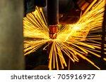 motion welding robots in a car...   Shutterstock . vector #705916927