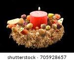 autumn decoration stock image.... | Shutterstock . vector #705928657