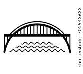 harbour bridge icon. simple... | Shutterstock .eps vector #705943633