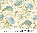 seamless colorful floral... | Shutterstock .eps vector #705950143