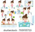 set of various poses of... | Shutterstock .eps vector #705955723