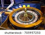roulette table in casino. ball...   Shutterstock . vector #705957253