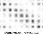 abstract halftone dotted... | Shutterstock .eps vector #705958663