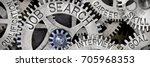 macro photo of tooth wheel...   Shutterstock . vector #705968353