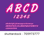 english stylish alphabet for... | Shutterstock .eps vector #705973777