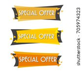 special offer sale banner for... | Shutterstock .eps vector #705974323