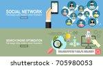 flat design.social network.... | Shutterstock .eps vector #705980053