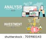 analytics information and... | Shutterstock .eps vector #705980143