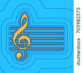 music violin clef sign. g clef. ... | Shutterstock .eps vector #705982573