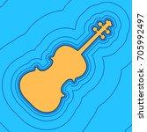 violin sign illustration.... | Shutterstock .eps vector #705992497