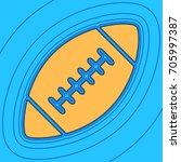american simple football ball....   Shutterstock .eps vector #705997387