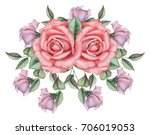 hand painted watercolor... | Shutterstock . vector #706019053