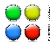 empty template circle chrome... | Shutterstock .eps vector #706021237