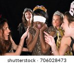 group of women having a party | Shutterstock . vector #706028473