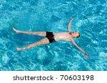 maldives.  teenager has a rest... | Shutterstock . vector #70603198