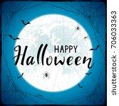 abstract halloween background... | Shutterstock . vector #706033363