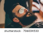 young man ready for a beard... | Shutterstock . vector #706034533