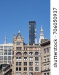 group of midtown buildings from ... | Shutterstock . vector #706050937