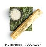 green nori sheet   rice and... | Shutterstock . vector #706051987