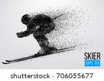 silhouette of a skier isolated. ... | Shutterstock .eps vector #706055677