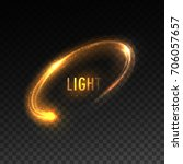 Vector Orange Circular Light...
