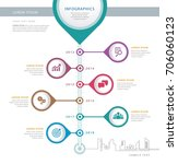 info graphics design template ... | Shutterstock .eps vector #706060123
