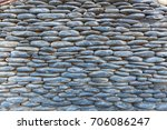 fences and walls of houses are... | Shutterstock . vector #706086247