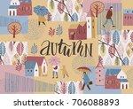 autumn design. vector temlate. | Shutterstock .eps vector #706088893