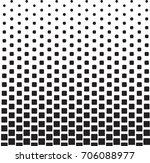 geometric black and white... | Shutterstock .eps vector #706088977