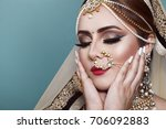 portrait of a beautiful elegant ... | Shutterstock . vector #706092883