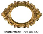 metal frame isolated on a white ... | Shutterstock . vector #706101427