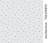 hand drawn dots and spots... | Shutterstock .eps vector #706109893