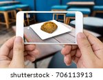 augmented reality marketing... | Shutterstock . vector #706113913