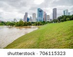 downtown houston at daytime...   Shutterstock . vector #706115323