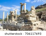 Ruins Of Statues In Ancient...