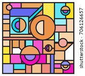 trendy geometric elements... | Shutterstock .eps vector #706126657