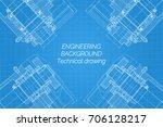 mechanical engineering drawings ...   Shutterstock .eps vector #706128217