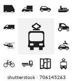 set of 12 editable transport...