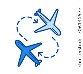 airport transfer vector line...   Shutterstock .eps vector #706145977