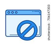 page forbidden vector line icon ... | Shutterstock .eps vector #706147303