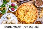 georgian cuisine foodset from... | Shutterstock . vector #706151203