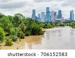 high and fast water rising in... | Shutterstock . vector #706152583